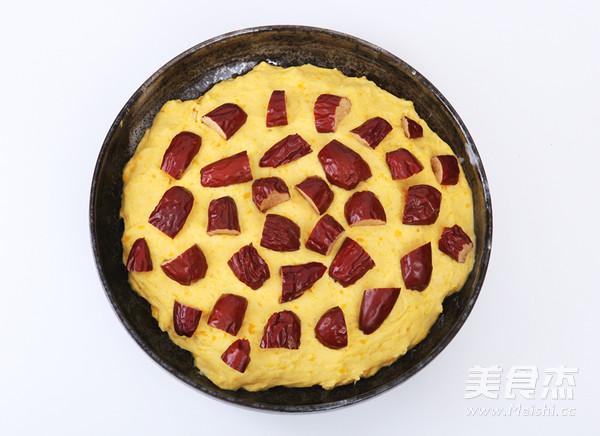 南瓜红枣发糕的步骤