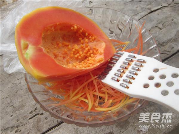 酸甜拌木瓜的家常做法