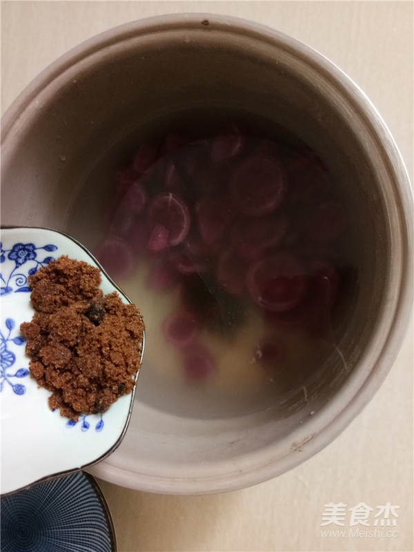紫薯小米糊的简单做法