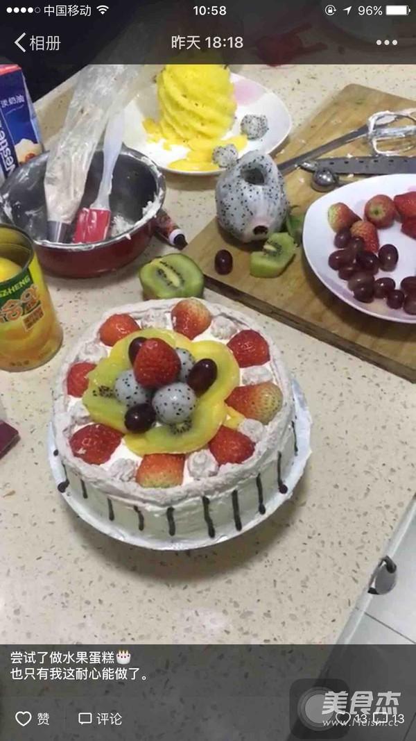 水果生日蛋糕的做法大全