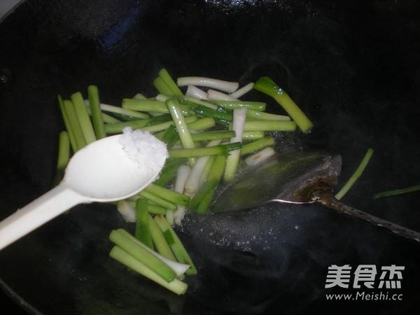大蒜炒百叶怎么吃