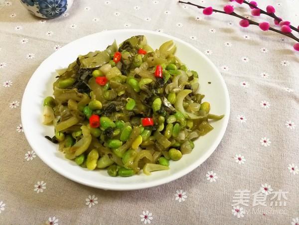 瘤芥菜炒毛豆成品图
