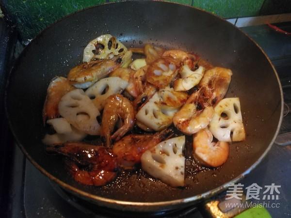 莲藕明虾怎么做