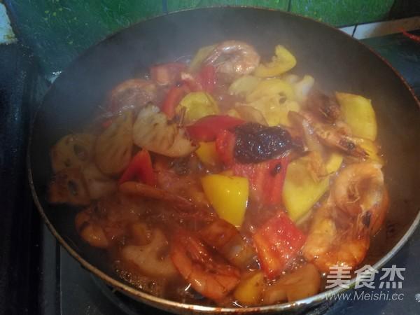 莲藕明虾怎么煮