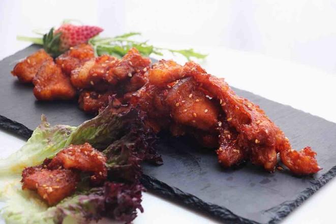 韩式烤五花成品图