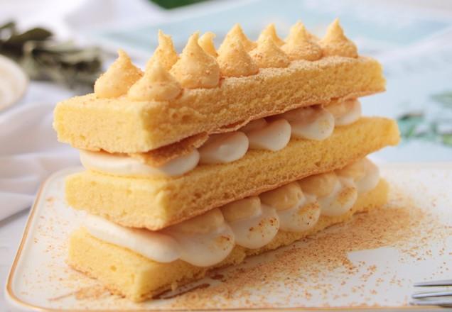日式榴莲豆乳蛋糕的制作方法