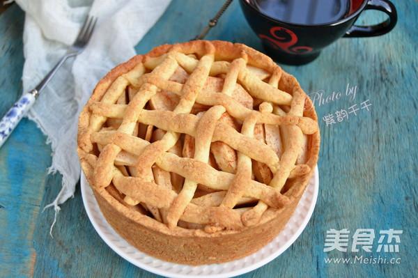 苹果蛋糕成品图