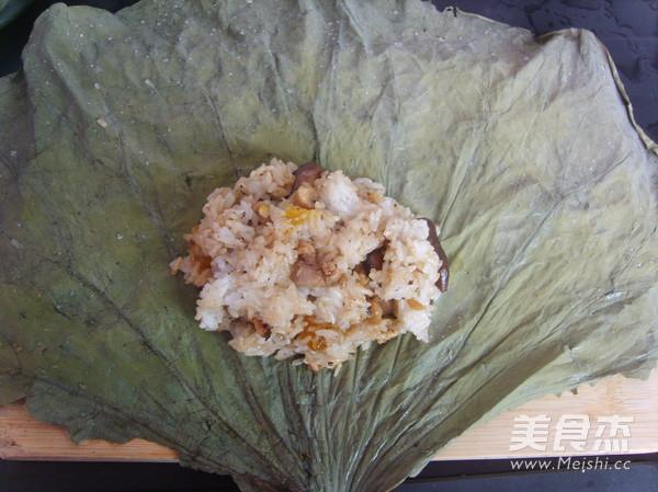 荷香糯米鸡的制作方法