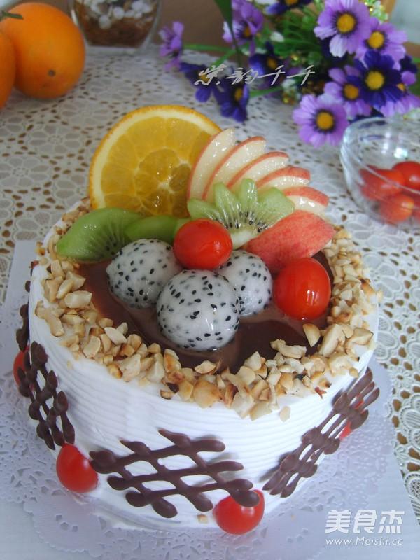 水果生日蛋糕成品图