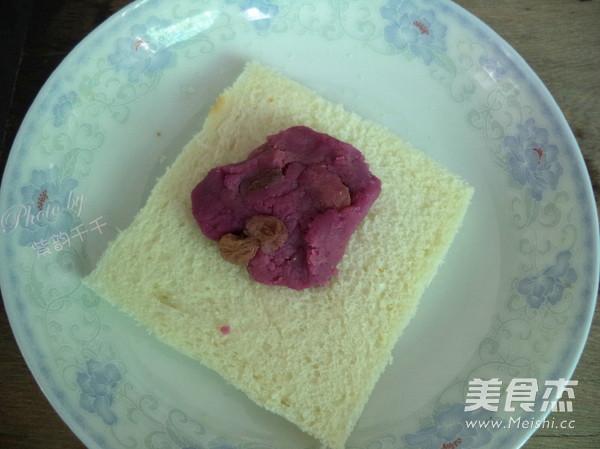 广东紫薯面包角的家常做法