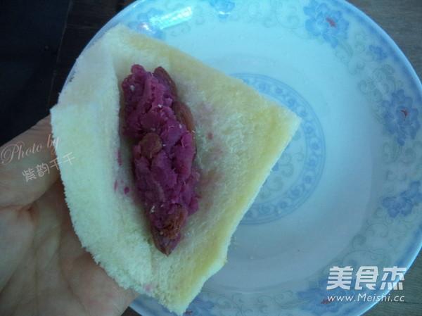 广东紫薯面包角的简单做法