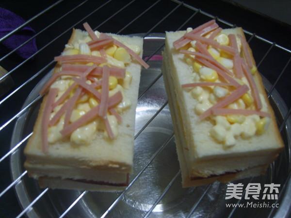 玉米三明治的家常做法