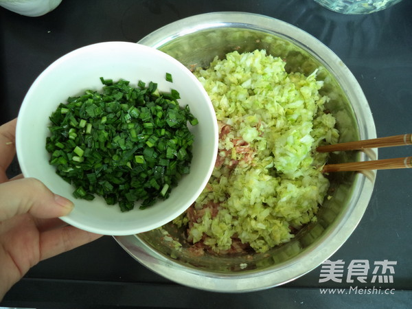 韭菜白菜猪肉饺子馅怎么煮