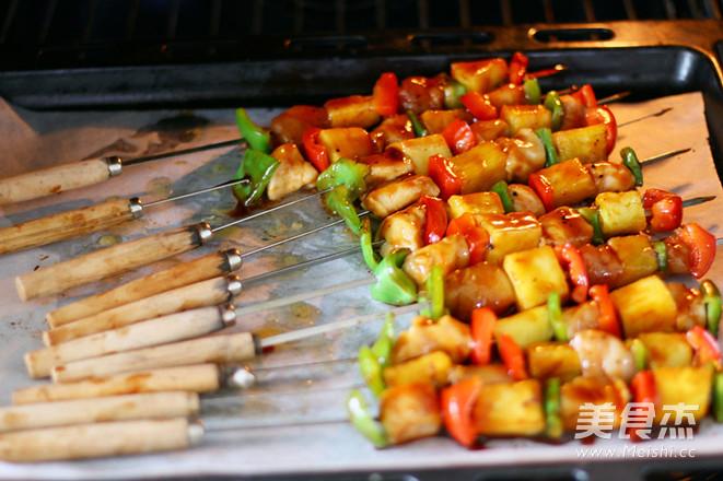 夏威夷风情鸡肉串怎么煮