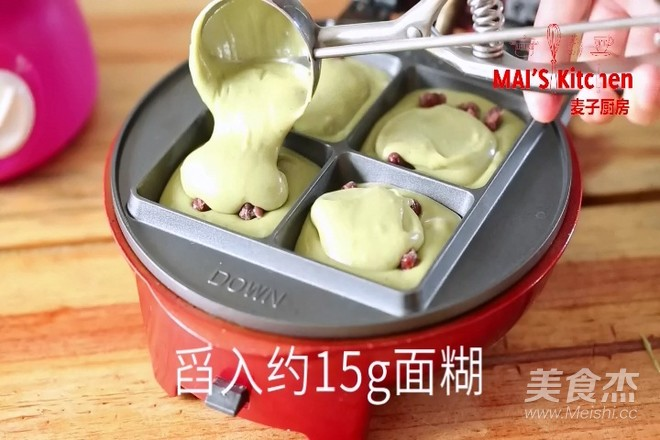 清新快手   抹茶蜜豆夹心蛋糕怎样做