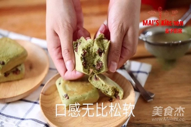 清新快手   抹茶蜜豆夹心蛋糕的制作