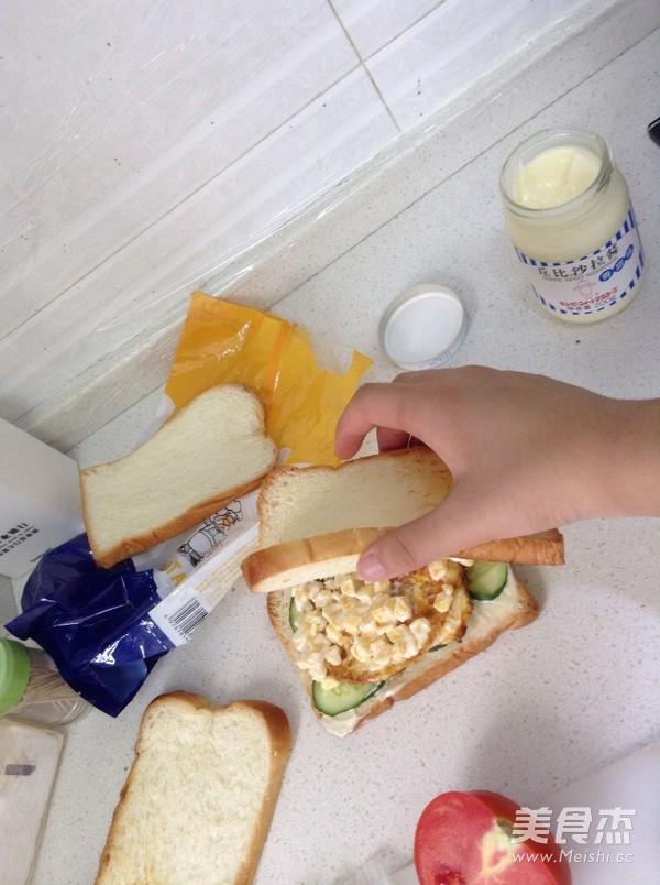 香脆玉米三明治的步骤