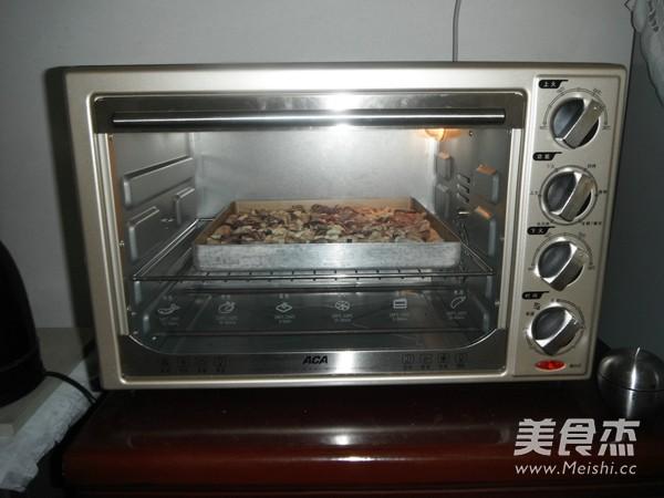 香菇鸡肉披萨的制作