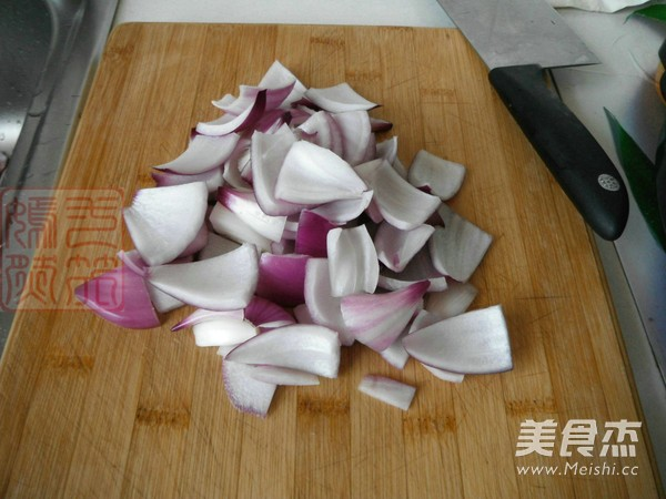 紫皮洋葱炒鸡片的做法图解