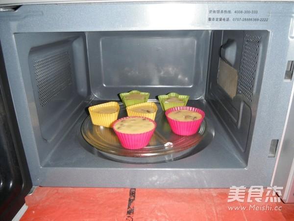 微波炉蛋糕的步骤