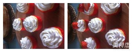 双莓奶酪纸杯蛋糕怎么炖
