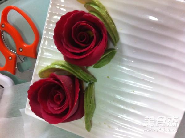 红玫瑰可丽饼的做法大全