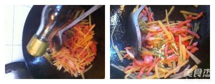 炒三丝怎么吃