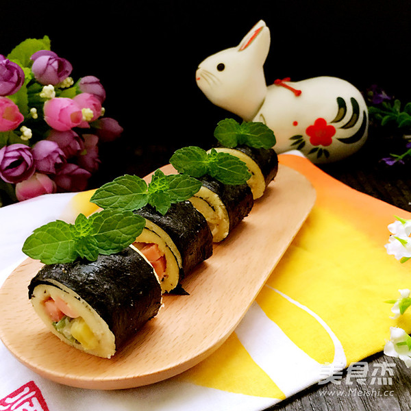 吐司寿司卷成品图