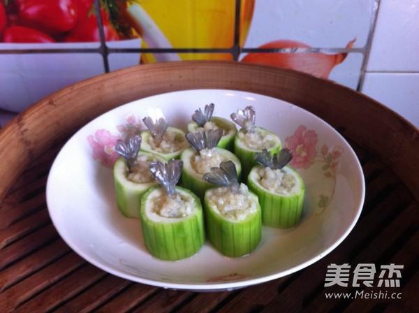 蒜蓉虾仁丝瓜盅怎么煮