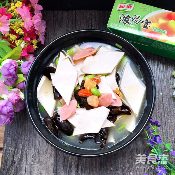 三鲜汤百叶成品图