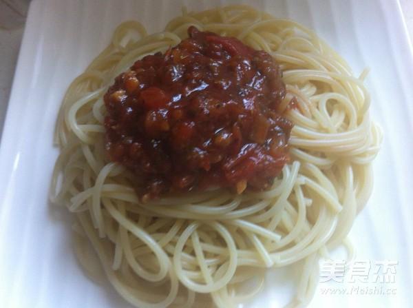 牛肉番茄酱拌意面的制作大全