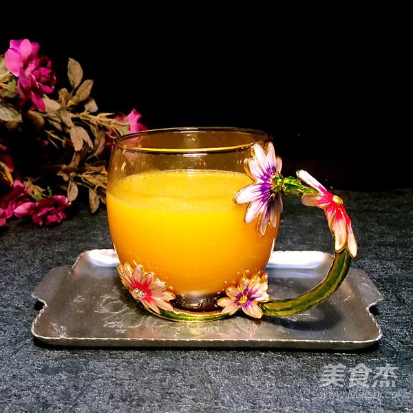 菠萝橙汁成品图