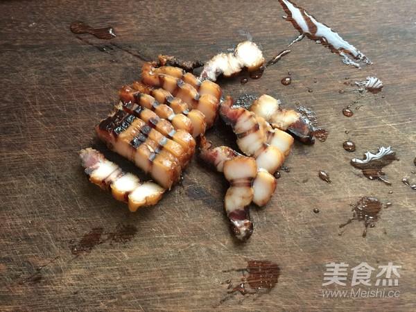 蒜苔炒腊肉的家常做法