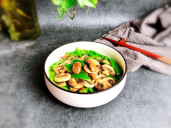 青椒炒双菇怎么煮