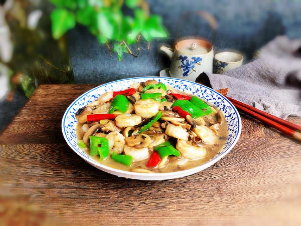 蘑菇炒虾仁怎样做