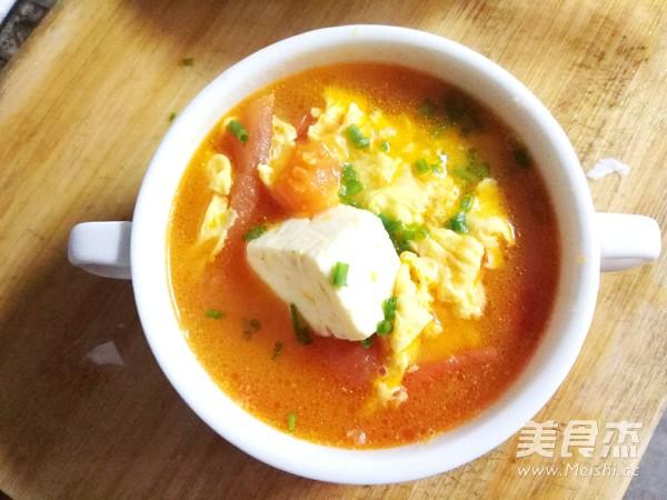 番茄豆腐蛋花汤怎么煸
