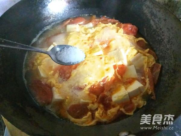 番茄豆腐蛋花汤怎么炖