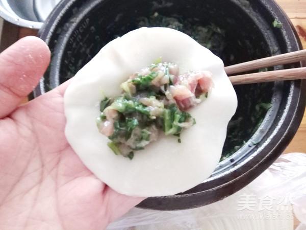 青菜鲜肉煎饺怎么吃