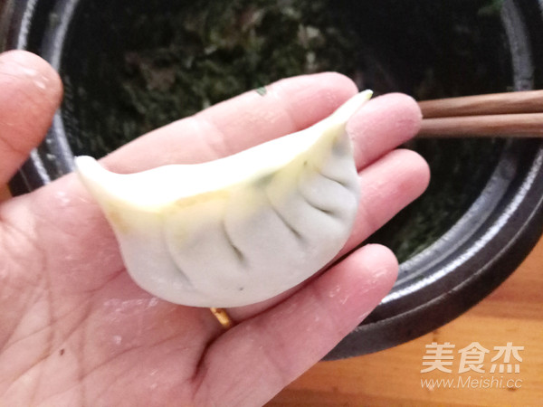 青菜鲜肉煎饺怎么炒