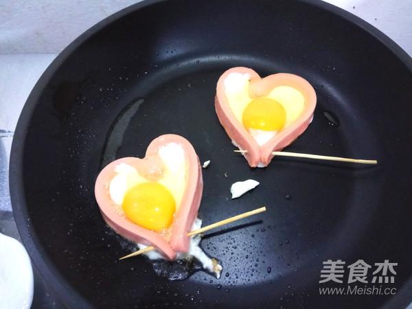 爱心火腿煎蛋的简单做法