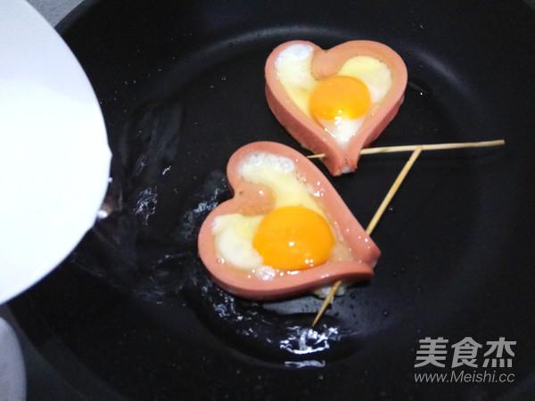 爱心火腿煎蛋怎么吃
