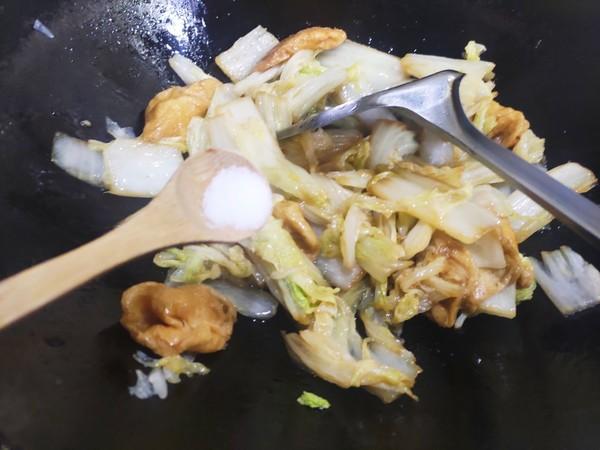 白菜焖面筋怎么炒