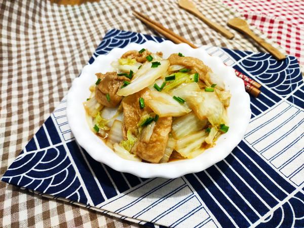 白菜焖面筋怎么煮