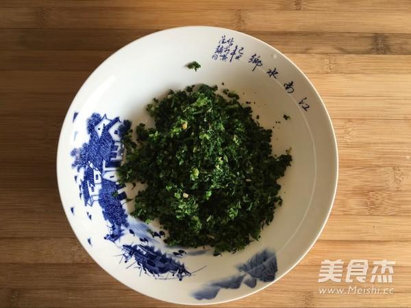 荠菜素馅蒸饺的家常做法