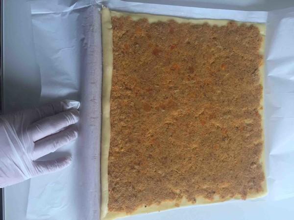 咸蛋黄肉松饼干的步骤