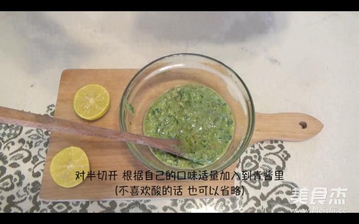罗勒青酱意面的简单做法