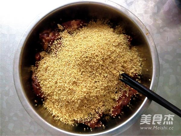 小米蒸排骨怎样炒