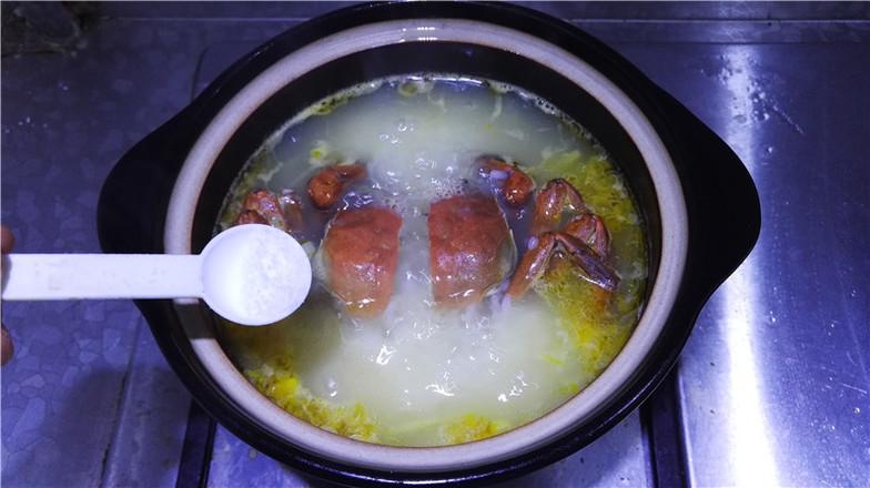 营养鲜香的毛豆香米蟹粥怎样做