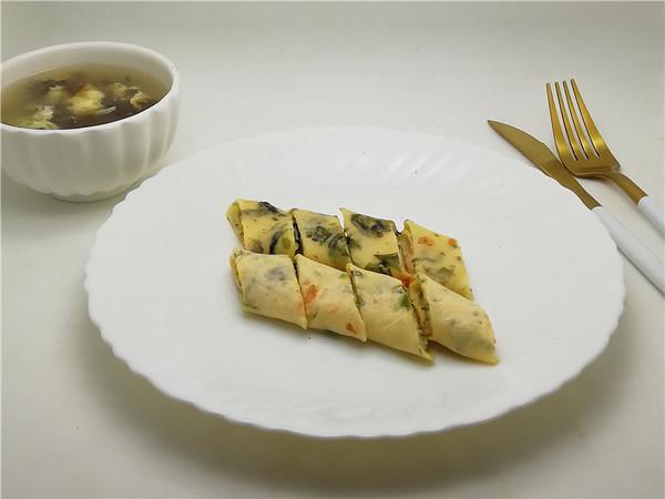 鱼籽海苔卷饼怎样做