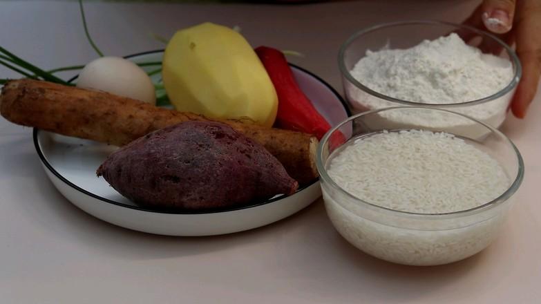 紫薯山药粥➕土豆胡萝卜蛋饼的做法大全